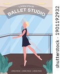 ballet studio poster flat... | Shutterstock .eps vector #1901192932