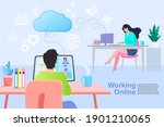communication and contemporary... | Shutterstock .eps vector #1901210065