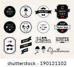 hipster style elements  icons... | Shutterstock . vector #190121102