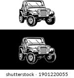 An Illustration Of A Jeep...
