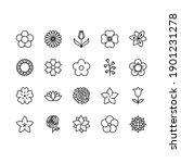 flowers line icon set.... | Shutterstock .eps vector #1901231278