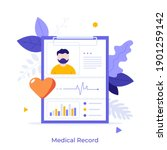 tablet with patient's photo ...   Shutterstock .eps vector #1901259142