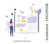 student  scientist or... | Shutterstock .eps vector #1901259238