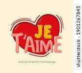 "inscription ""i love you"" in... | Shutterstock .eps vector #1901267845"