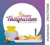 thaipusam or thaipoosam... | Shutterstock .eps vector #1901270368