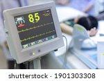 electrocardiogram in hospital... | Shutterstock . vector #1901303308
