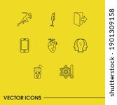 pack icons set with ice ...