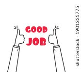 two thumbs up fingers like good ...   Shutterstock .eps vector #1901325775
