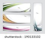 set of vector banners. | Shutterstock .eps vector #190133102