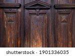 Old Wooden Threaded Door Of...