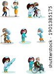 vector image. help for the... | Shutterstock .eps vector #1901385175
