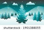 winter night time. winter... | Shutterstock .eps vector #1901388055