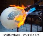 Artist Glass Blowing Process....