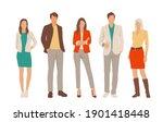 set of young men and women ... | Shutterstock .eps vector #1901418448