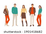 set of young men and women ... | Shutterstock .eps vector #1901418682