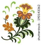 paisley floral design | Shutterstock .eps vector #190143362