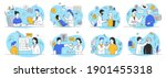 large set of outline vector...   Shutterstock .eps vector #1901455318