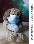 medical face mask and knitted... | Shutterstock . vector #1901455858