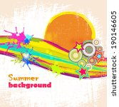 background with colorful spots... | Shutterstock .eps vector #190146605