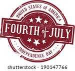 vintage fourth of july usa stamp | Shutterstock .eps vector #190147766