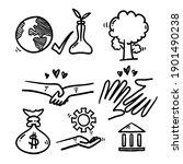 hand drawn doodle element... | Shutterstock .eps vector #1901490238