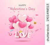 valentine's day sale on pink... | Shutterstock .eps vector #1901498515
