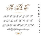 Vector Hand Drawn Calligraphic...