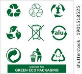 flat icon set for green eco...   Shutterstock .eps vector #1901518525