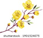 vietnamese tet holiday with...   Shutterstock .eps vector #1901524075