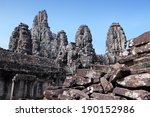 bayon    khmer temple in angkor ... | Shutterstock . vector #190152986