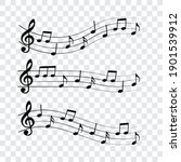 Music Notes Set  Vector...