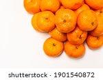 Oranges  Tangerine Isolated On...