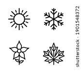 four seasons icon set. 4 vector ... | Shutterstock .eps vector #1901548372