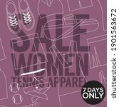 modern banner super sale vector ... | Shutterstock .eps vector #1901563672