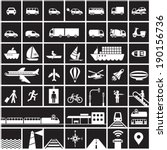 transportation icons set   road ... | Shutterstock .eps vector #190156736
