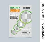 healthy restaurant flyer design ... | Shutterstock .eps vector #1901579608
