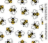 seamless pattern with flying... | Shutterstock .eps vector #1901590375