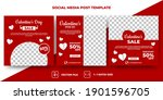 set of editable square banners... | Shutterstock .eps vector #1901596705