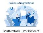 business negotiations concept.... | Shutterstock .eps vector #1901599075