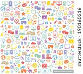 colorful flat icons set  ... | Shutterstock .eps vector #190160216