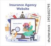 insurance agent online service... | Shutterstock .eps vector #1901602795