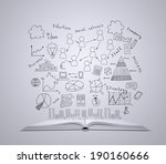 open white book. from above... | Shutterstock . vector #190160666