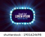 shining retro billboard.... | Shutterstock .eps vector #1901624698