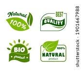 set of green eco labels....   Shutterstock .eps vector #1901667988