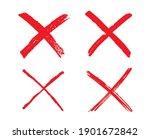 grunge letter x.vector cross... | Shutterstock .eps vector #1901672842
