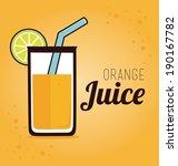 drink design over orange... | Shutterstock .eps vector #190167782