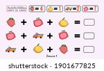 this is a kids learning game...   Shutterstock .eps vector #1901677825