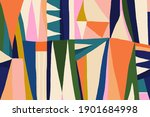 hand drawn trendy abstract... | Shutterstock .eps vector #1901684998