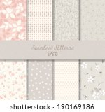 vector seamless patterns.  | Shutterstock .eps vector #190169186