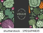 hand drawn vintage color... | Shutterstock .eps vector #1901694835